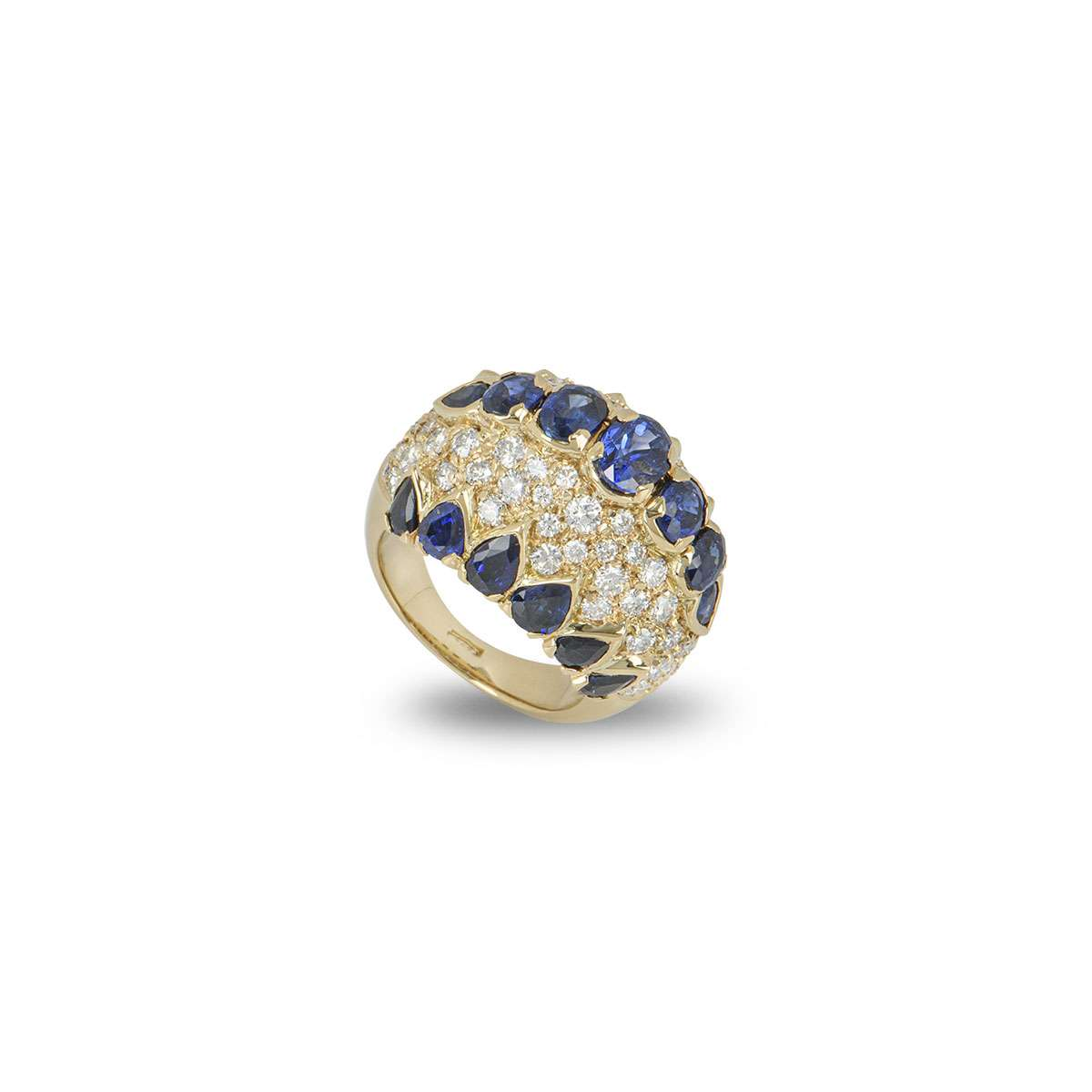 Yellow Gold Sapphire and Diamond Dress Ring